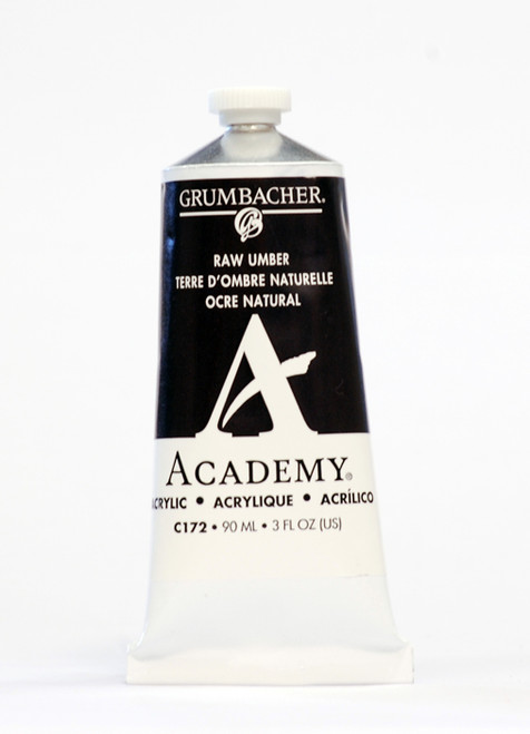 373516, Grumbacher Academy Acrylics, Raw Umber, 90ml.