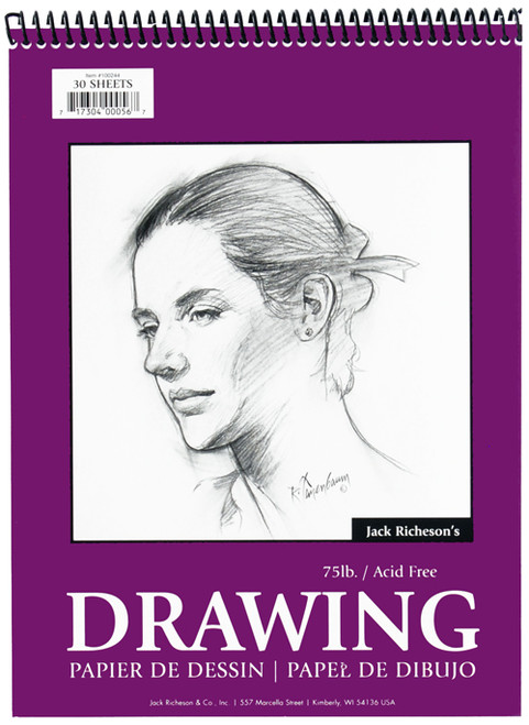 """341278, Richeson Drawing Paper, 8"""" x 10"""", Pad  30 sheets"""
