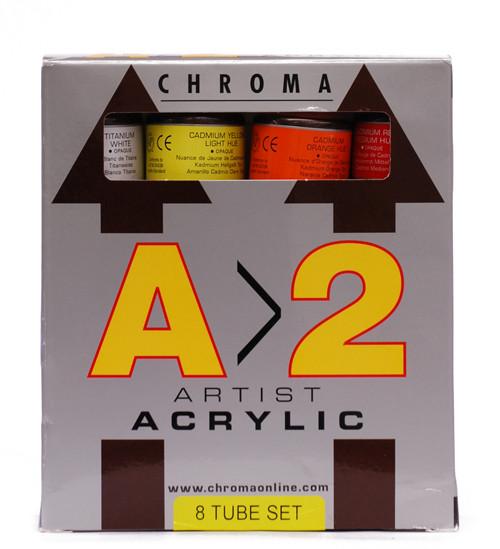 373084, Chroma A2 Set, 8x120ml.