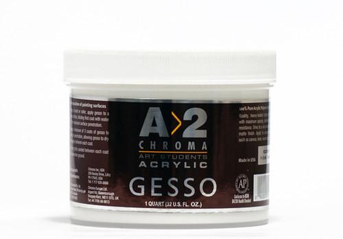 373086, Chroma A2 Acrylic Gesso, Quart