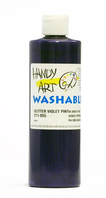 376116, Handy Art Washable Glitter Paint, Violet, 16oz.