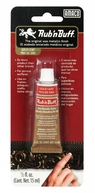 370242, Rub'n Buff, Gold Leaf, .5oz.