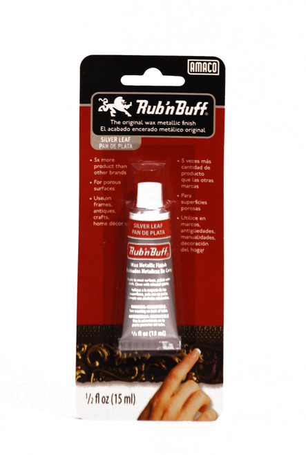 370244, Rub'n Buff, Silver Leaf, .5oz.