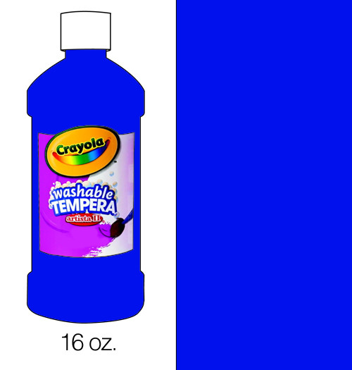 374501, Crayola Artista II Washable Tempera, Blue, 16oz.