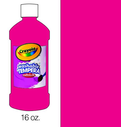 374504, Crayola Artista II Washable Tempera, Magenta, 16oz.