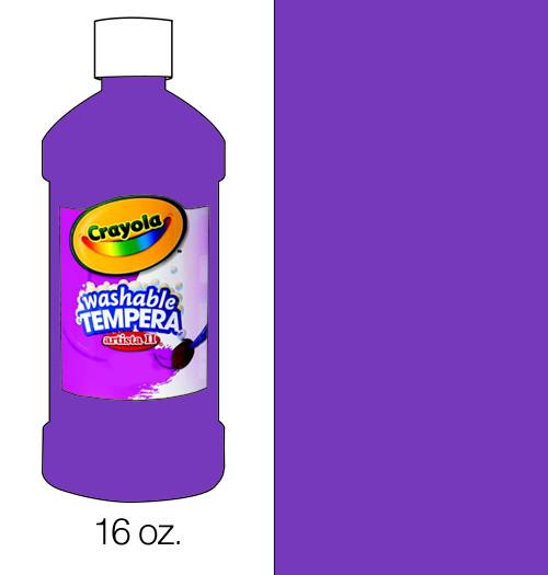 374508, Crayola Artista II Washable Tempera, Violet, 16oz.