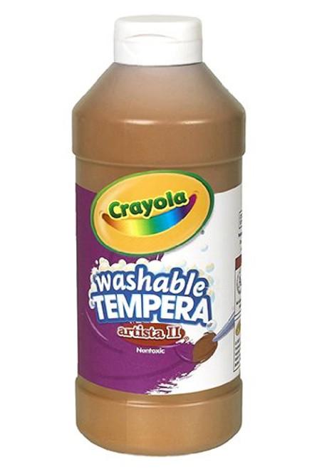374602, Crayola Artista II Washable Tempera, Brown, 32oz.