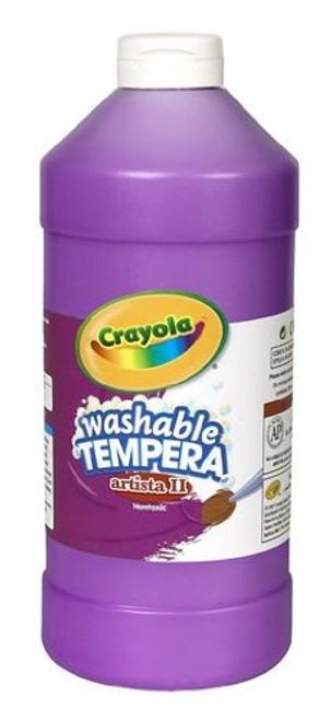 374604, Crayola Artista II Washable Tempera, Magenta, 32oz.