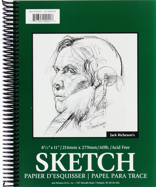 "341269, Richeson Sketch Diary, 8.5""x11"" 100 sheets"