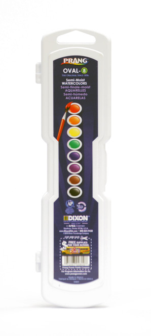 374315, Prang,Semi-Moist Watercolors, 8 oval pan colors w/brush