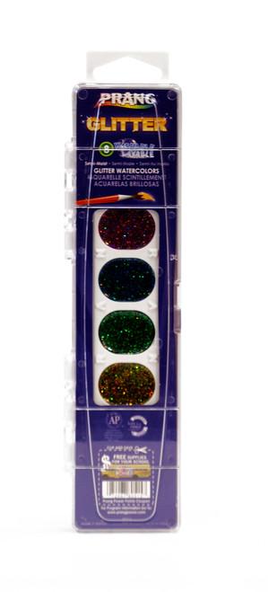 374391, Prang Glitter Watercolors, 8 color Set w/#9 brush