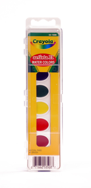 374300, Crayola Artista II Oval Pan, 8 colors w/brush