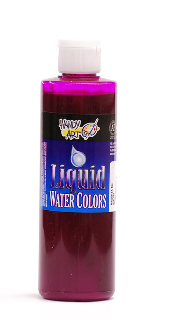 382113, Handy Art Washable  Liquid Watercolor, Magenta, 8oz.