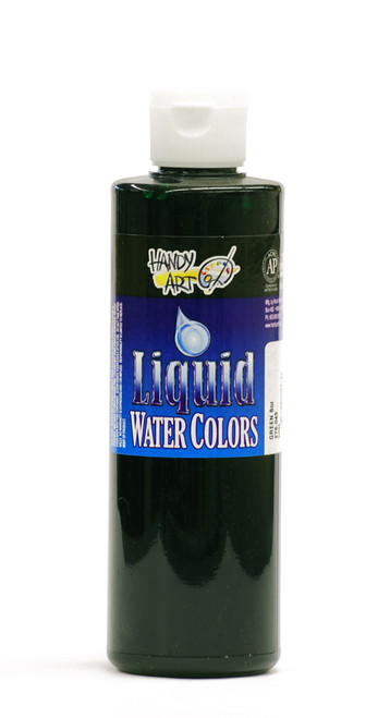 382117, Handy Art Washable  Liquid Watercolor, Green, 8oz.