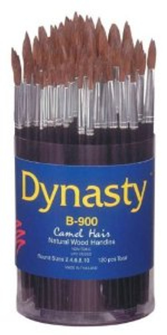 406917, Dynasty B-900 Camel Hair Brushes, Rounds, 120/ct.