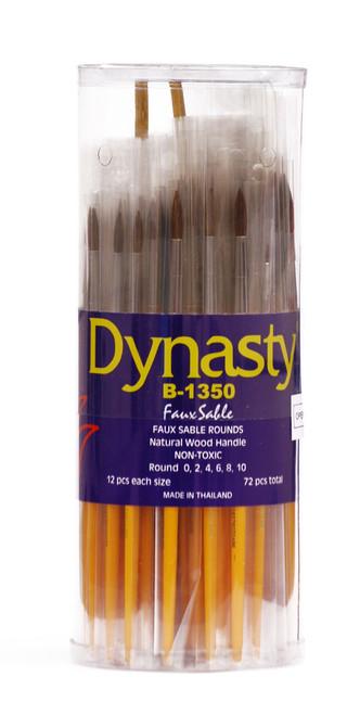407051, Dynasty B-1350 Imitation Sable Brushes, Rounds, 72/ct.