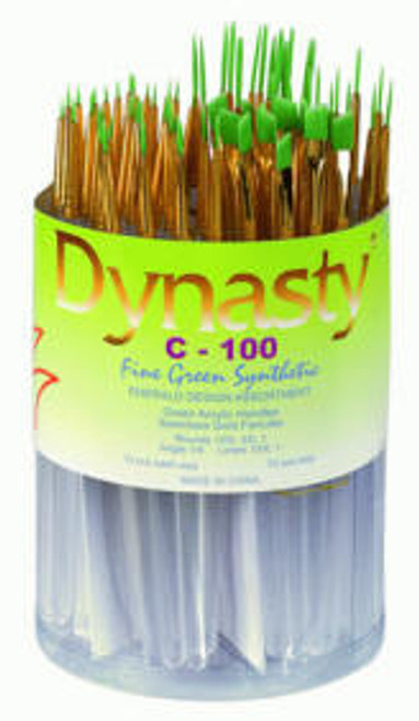 406921, Dynasty C-100 Emerald Watercolor Brushes, Rounds, 72/ct.