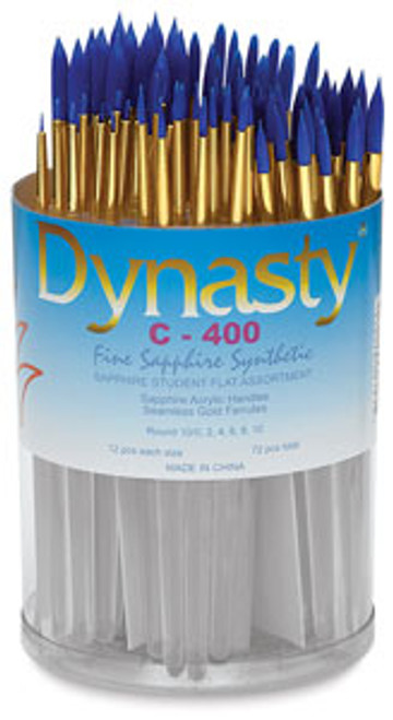 406924, Dynasty C-400  Sapphire Watercolor Brushes, Rounds, 72/pc.