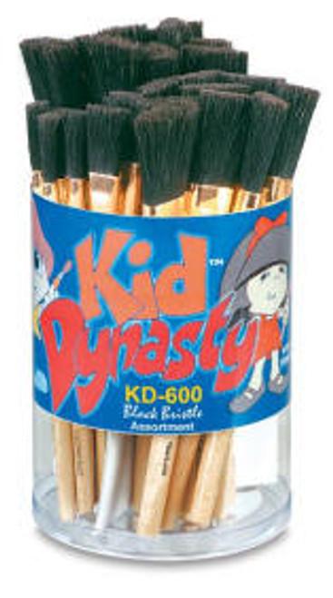 406928, Kid Dynasty KD-600 Black Bristle Stubby, 30/pc.