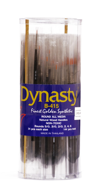 406926, Dynasty B-415 Golden Synthetic, Round, 144/pc.