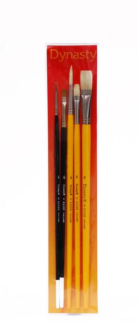 406901, Dynasty DB-2 Brush Set, Assorted, 5/pc.
