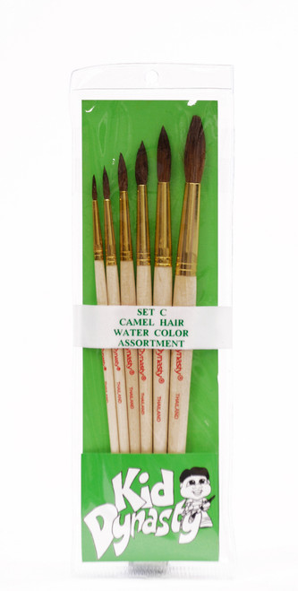406908, Camel Hair Watercolor Brush Set, 6/pc.
