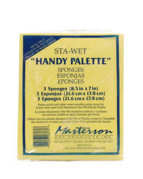 "419106, Masterson Sta-Wet Handy Palette, Sponge Refill, 8.5""x7"" , Each"