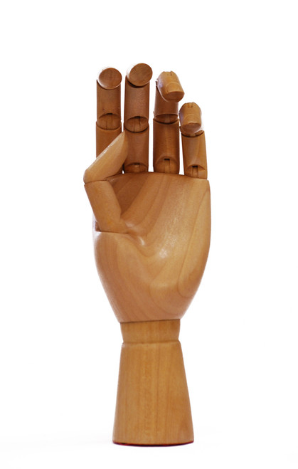 419332, Wooden Hand, Female (Left hand)