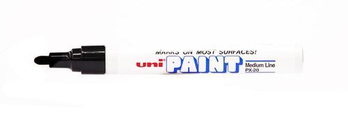 438030, Uni-Paint Marker, Medium Tip, Black