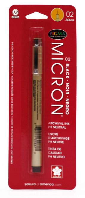 432007, Pigma Micron Pen, Black, 02