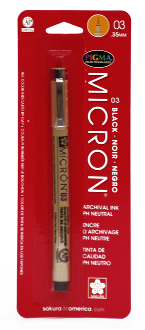 432008, Pigma Micron Pen, Black, 03