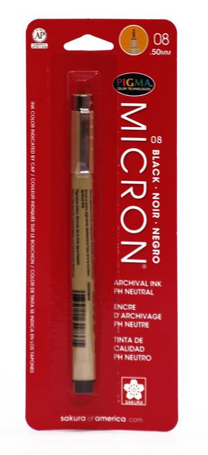 432010, Pigma Micron Pen, Black, 08