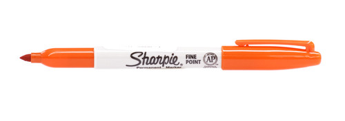 437955, Sharpie, Fine, Orange