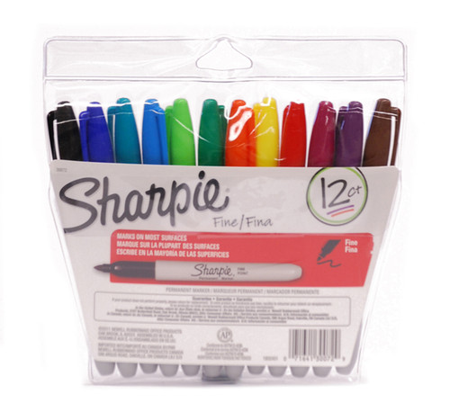 437930, Sharpie Set, Fine, Assorted, 12/markers