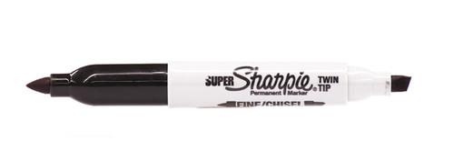 437949, Sharpie, Super Twin Tip, Black