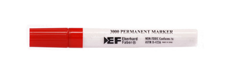 438402, 3000 Series Permanent Marker, Chisel, Red