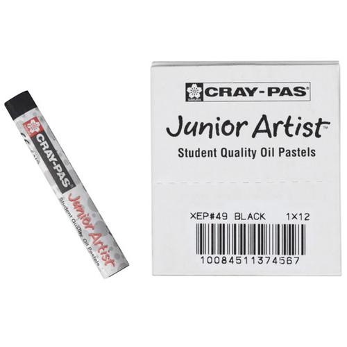 447653, Cray-Pas Junior Artist Oil Pastel, Black, 12/pastel