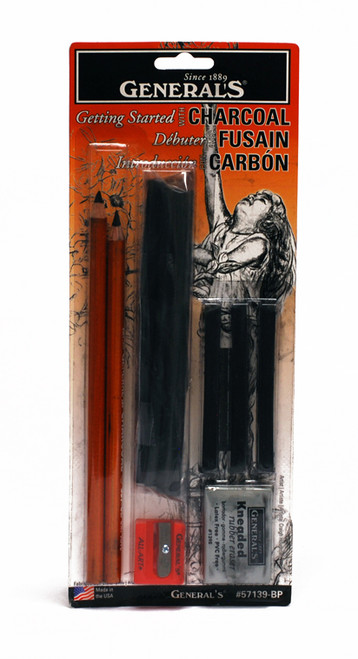 447013, General's Charcoal Drawing Assortment Set