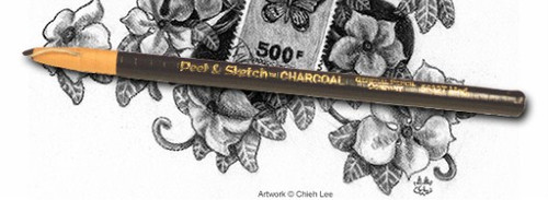 446898, General's Peel & Sketch Charcoal Pencils, Medium, dozen
