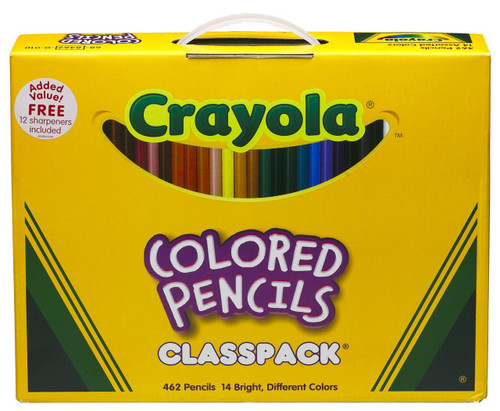 446512, Crayola Colored Pencil Classpack, 462 count