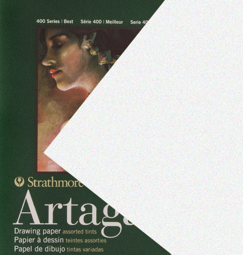 "347115, Strathmore Artagain 400 Series Flannel White, 19""x25"", 25 Sheets"