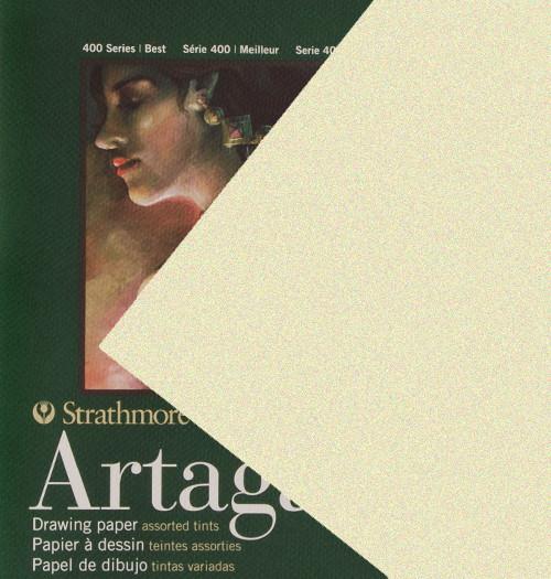"347116, Strathmore Artagain 400 Series Beachsand Ivory, 19""x25"", 25 Sheets"