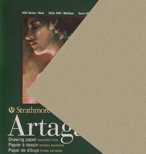 "347120, Strathmore Artagain 400 Series Gotham Gray, 19""x25"", 25 Sheets"