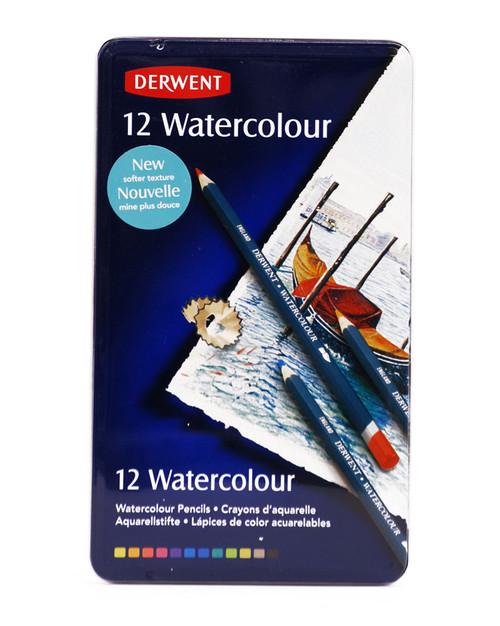 446425, Derwent Watercolour Pencil Set, 12 color