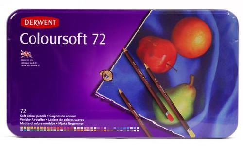 446345, Derwent Coloursoft Pencils, 72 color Set