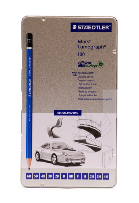 442999, Staedtler Mars Lumograph Pencil Set, 12/Pencils