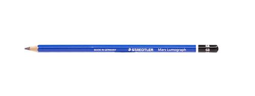 443016, Staedtler Mars Lumograph Pencil, 6B, Dozen