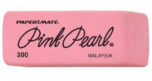 474205, Pink Pearl Eraser, Small, 3 dz.