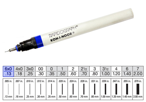 509001, Rapidiograph Technical Pen, 6x0
