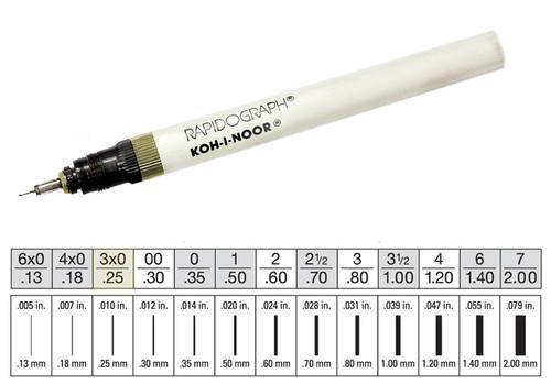 509003, Rapidiograph Technical Pen, 3x0
